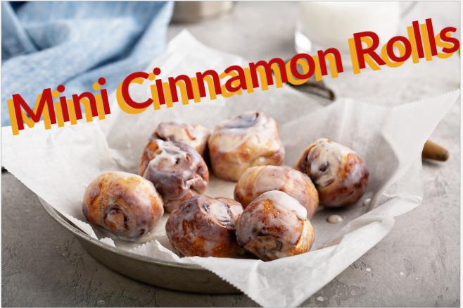 Frosted Mini Cinnamon Roll Bites Recipe
