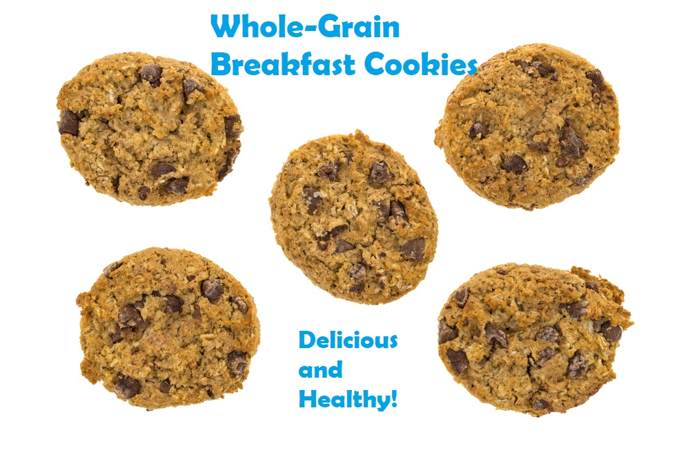 Whole Grain Breakfast Cookies, Delicious and Healthy!